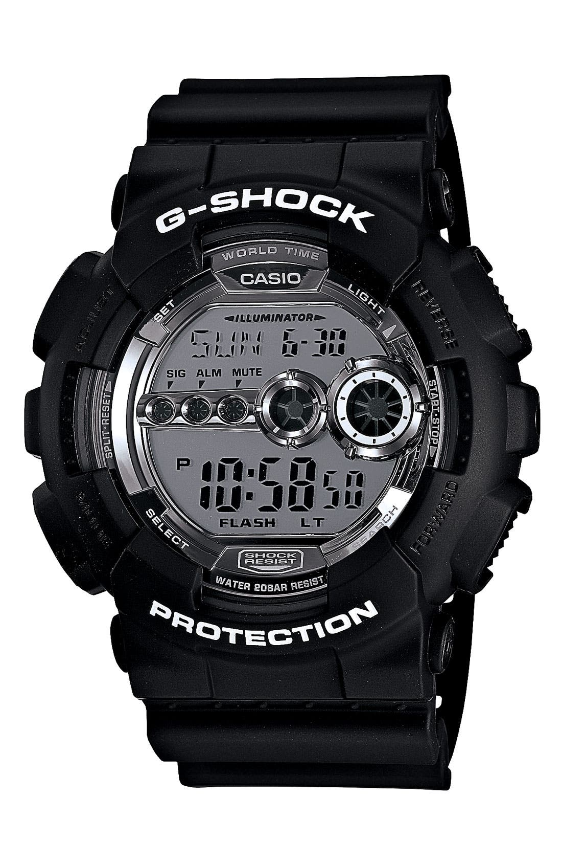 Main Image - G-Shock Digital Watch, 55mm x 52mm