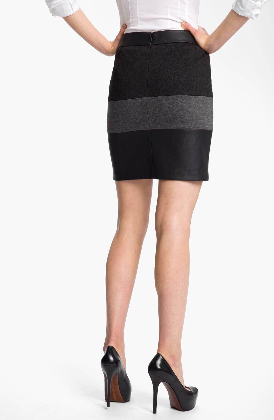 Alternate Image 2  - Halogen® Mixed Media Skirt