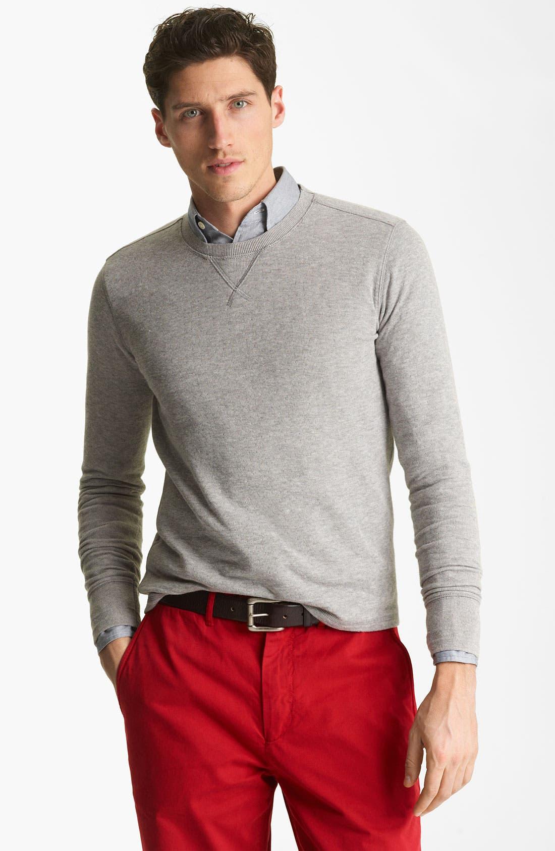 Alternate Image 1 Selected - Jack Spade Dual Layer Sweatshirt