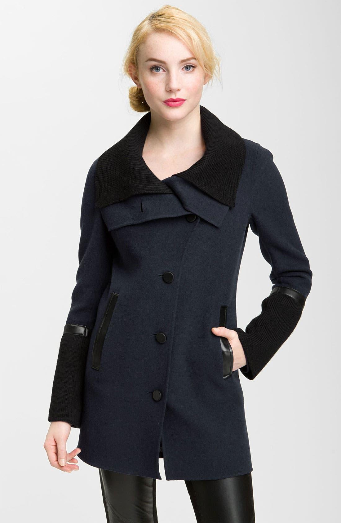 Main Image - Mackage Knit & Leather Trim Coat