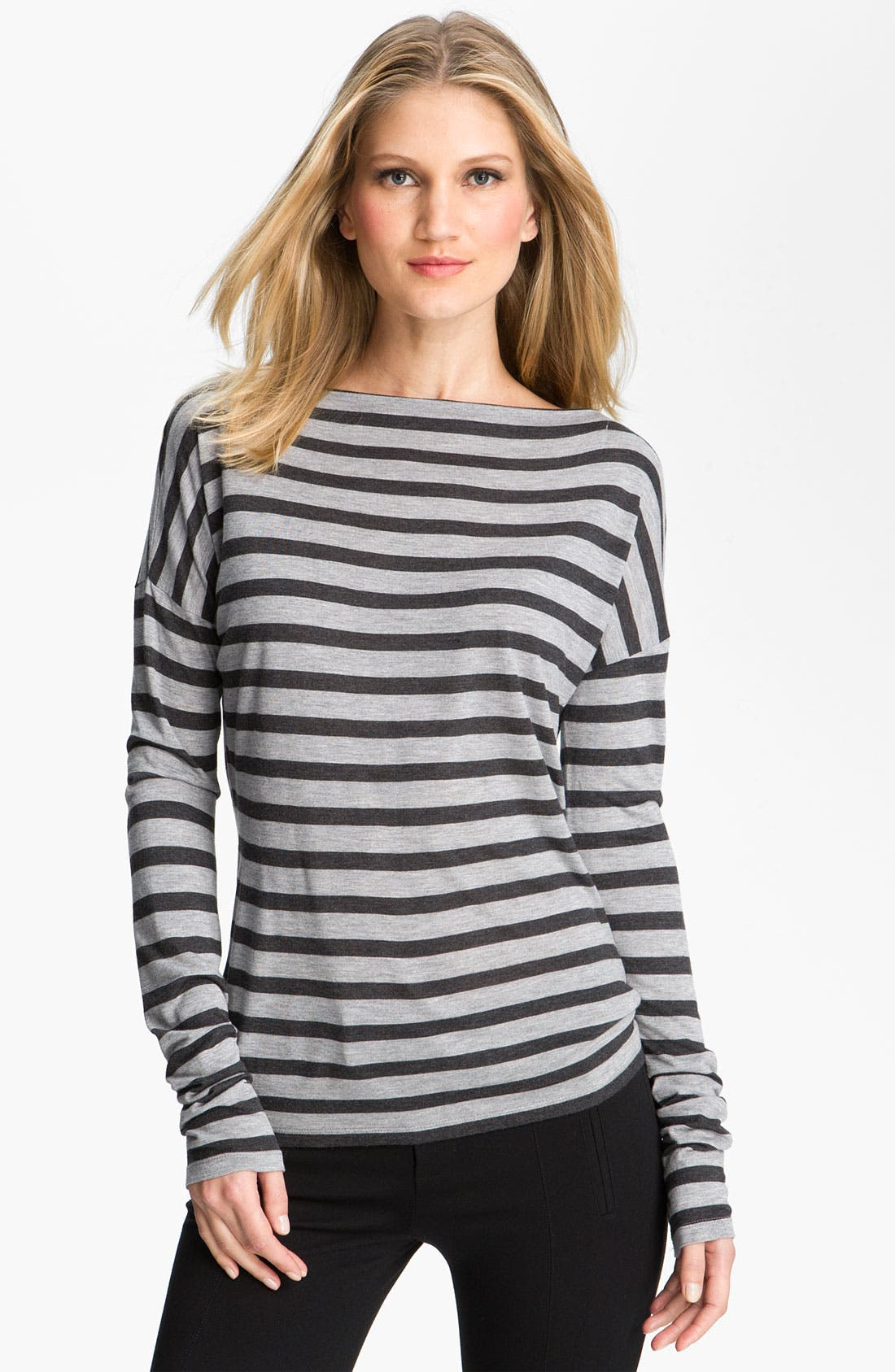 Alternate Image 1 Selected - Vince Striped Boatneck Top
