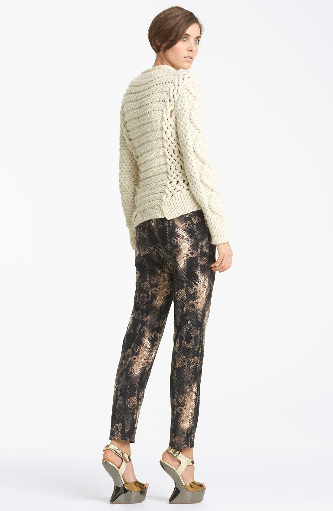 Alternate Image 4  - Yigal Azrouël Python Print Stretch Wool Pants