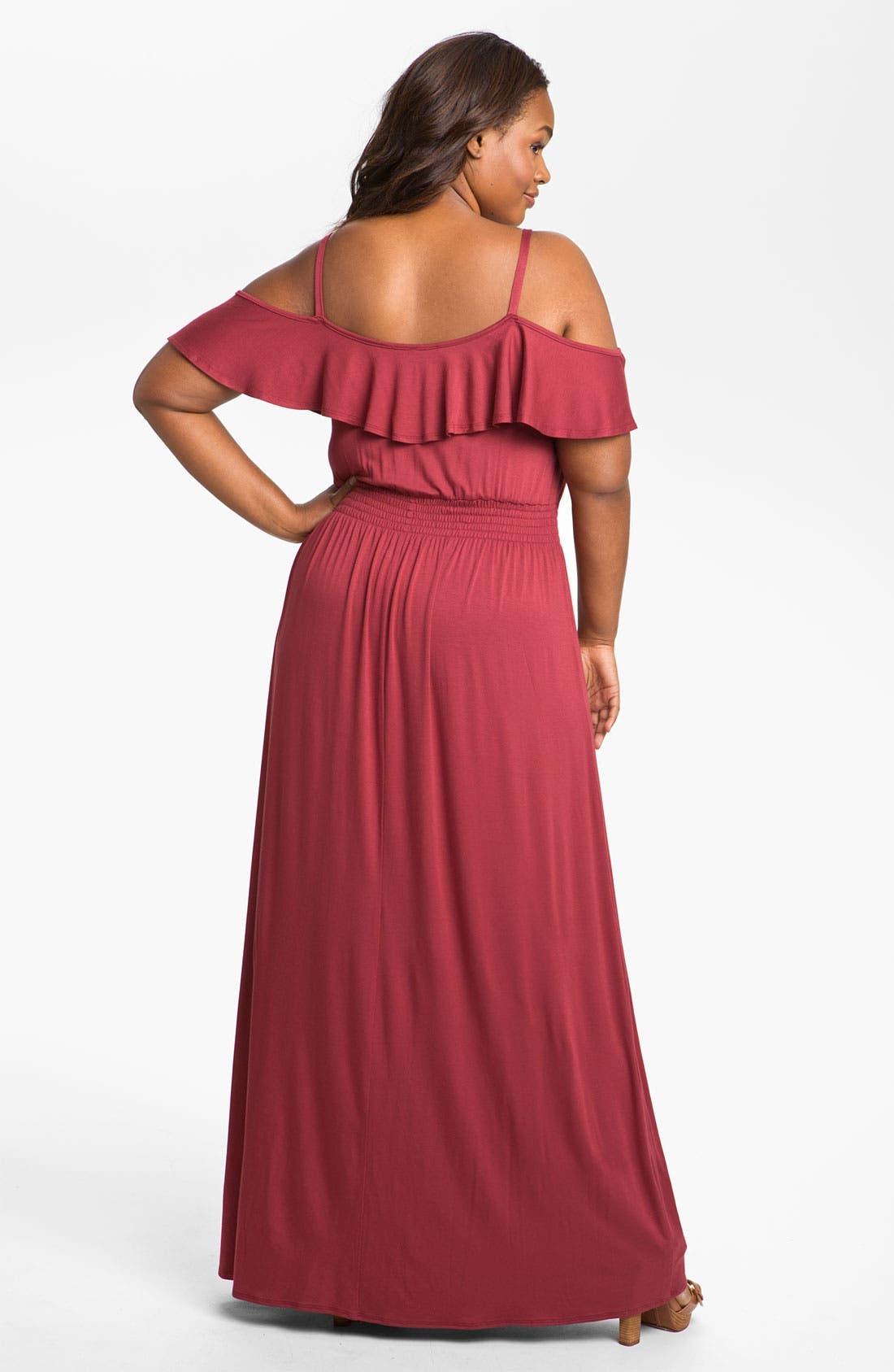 Alternate Image 2  - Bellatrix Ruffle Knit Maxi Dress (Plus)