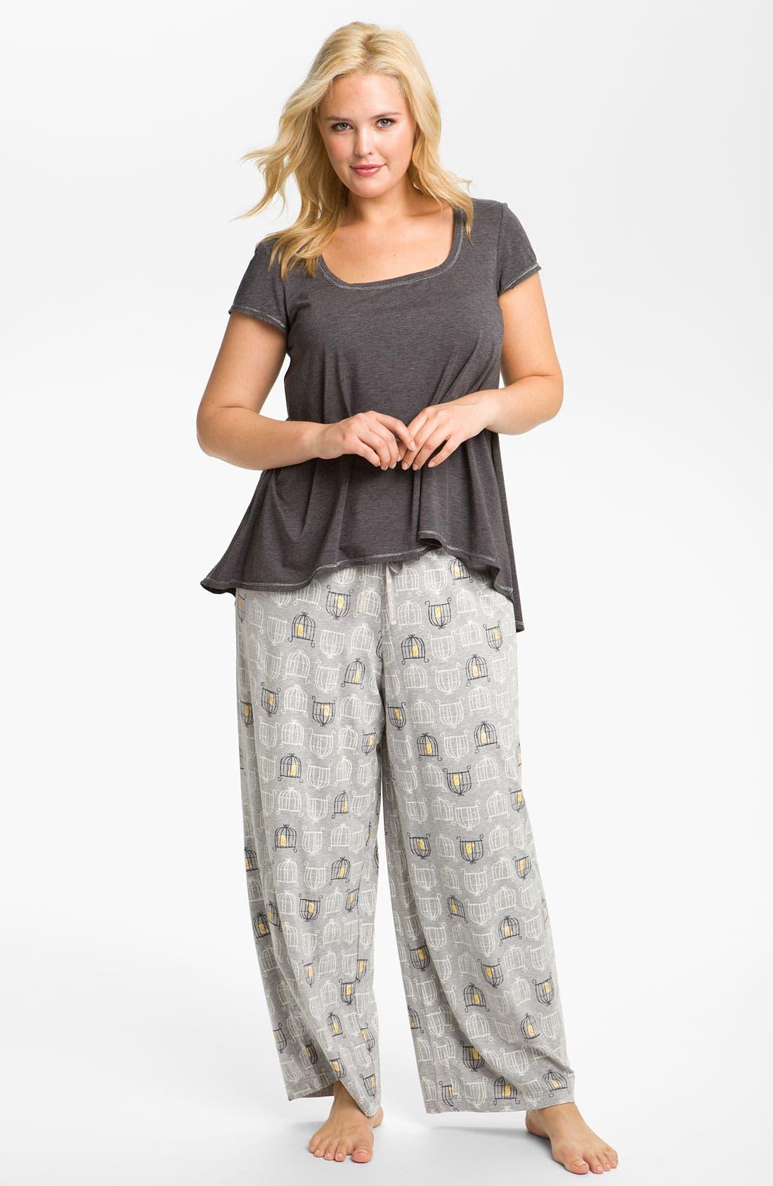 Alternate Image 4  - Hue 'Birdcage' Pajama Pants (Plus)