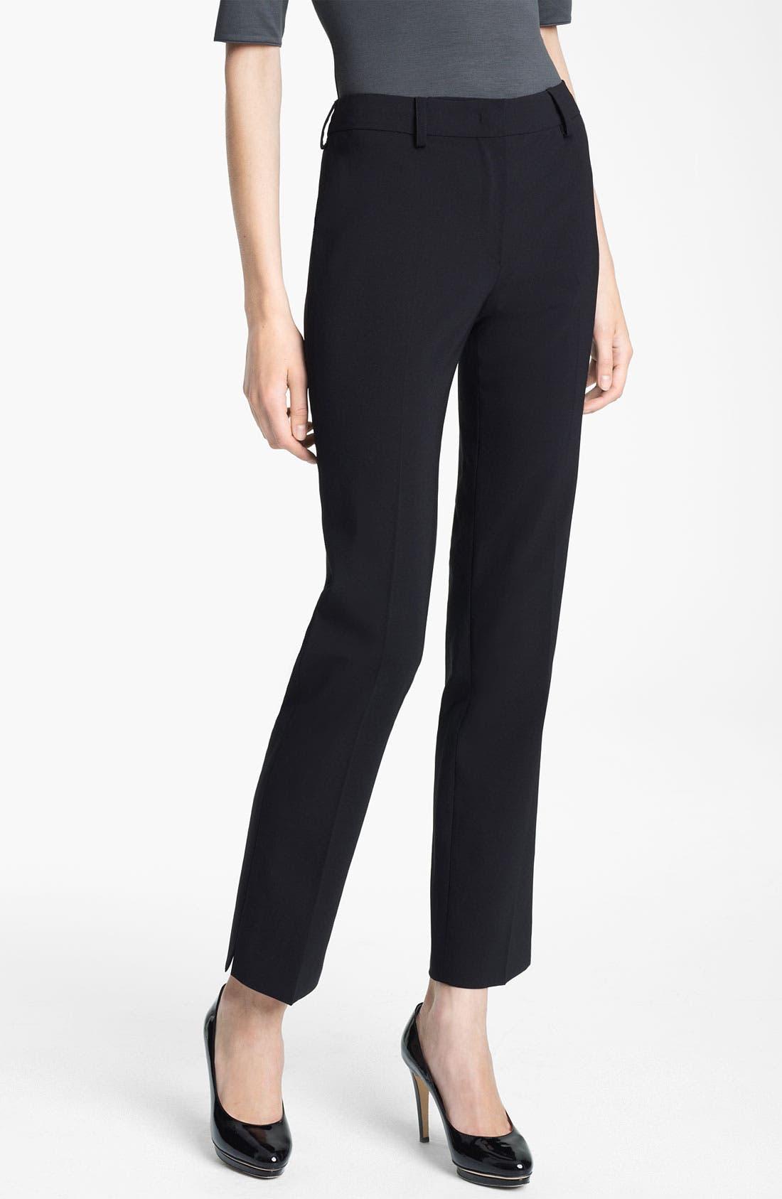 Main Image - Armani Collezioni Stretch Wool Pants
