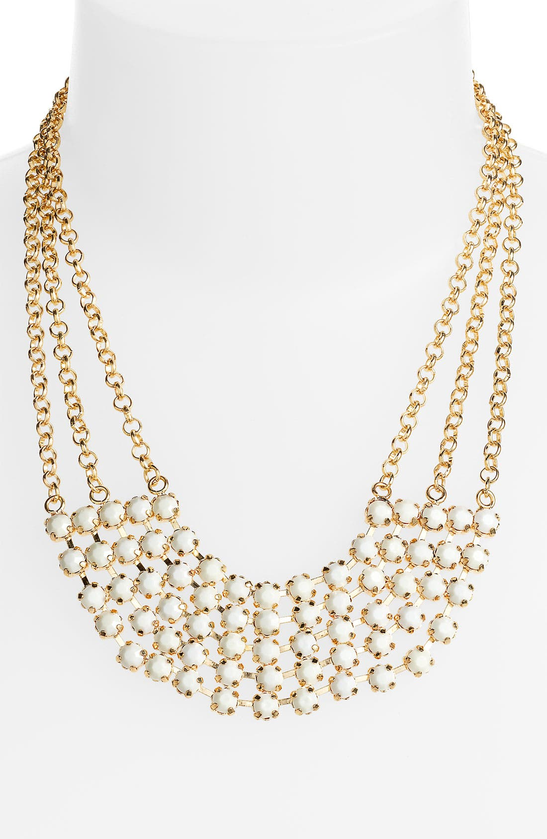 Main Image - Carole Chain & Facet Bib Necklace