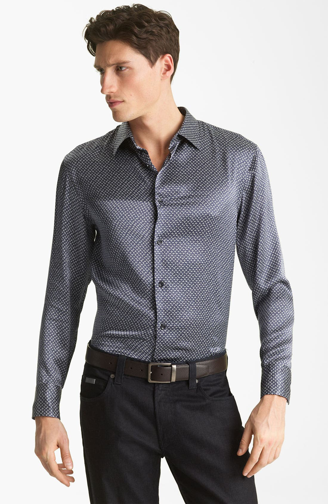 Alternate Image 1 Selected - Armani Collezioni Silk Sport Shirt