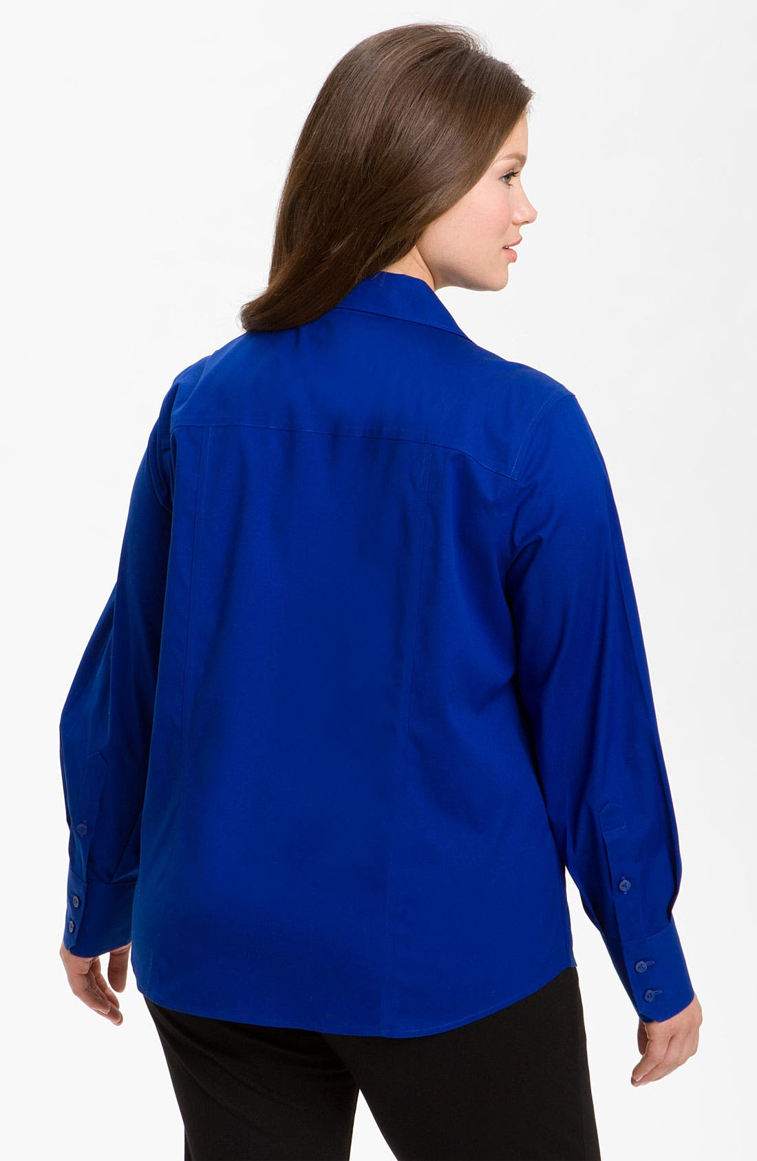 Alternate Image 2  - Foxcroft 'Free Fit' Seamed Shirt (Plus)