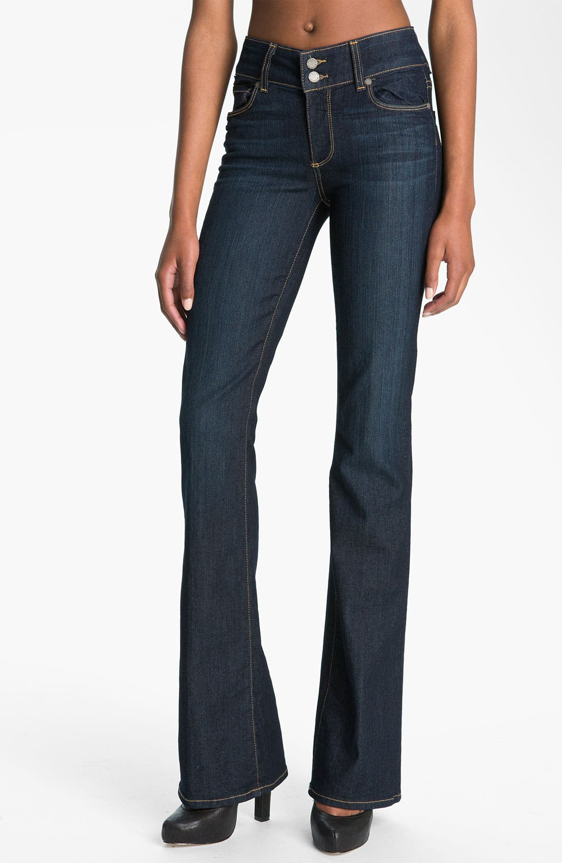 Main Image - PAIGE 'Hidden Hills' High Rise Bootcut Stretch Jeans (Stream)