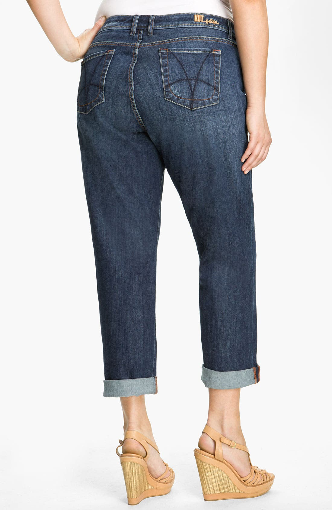 Alternate Image 1 Selected - KUT from the Kloth Slim Boyfriend Jeans (Plus)