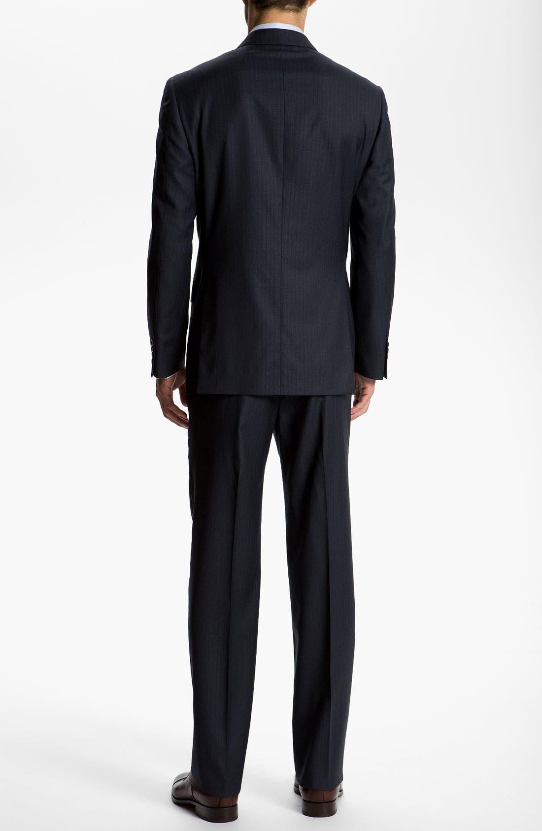 Alternate Image 3  - Joseph Abboud 'Signature Silver' Stripe Suit