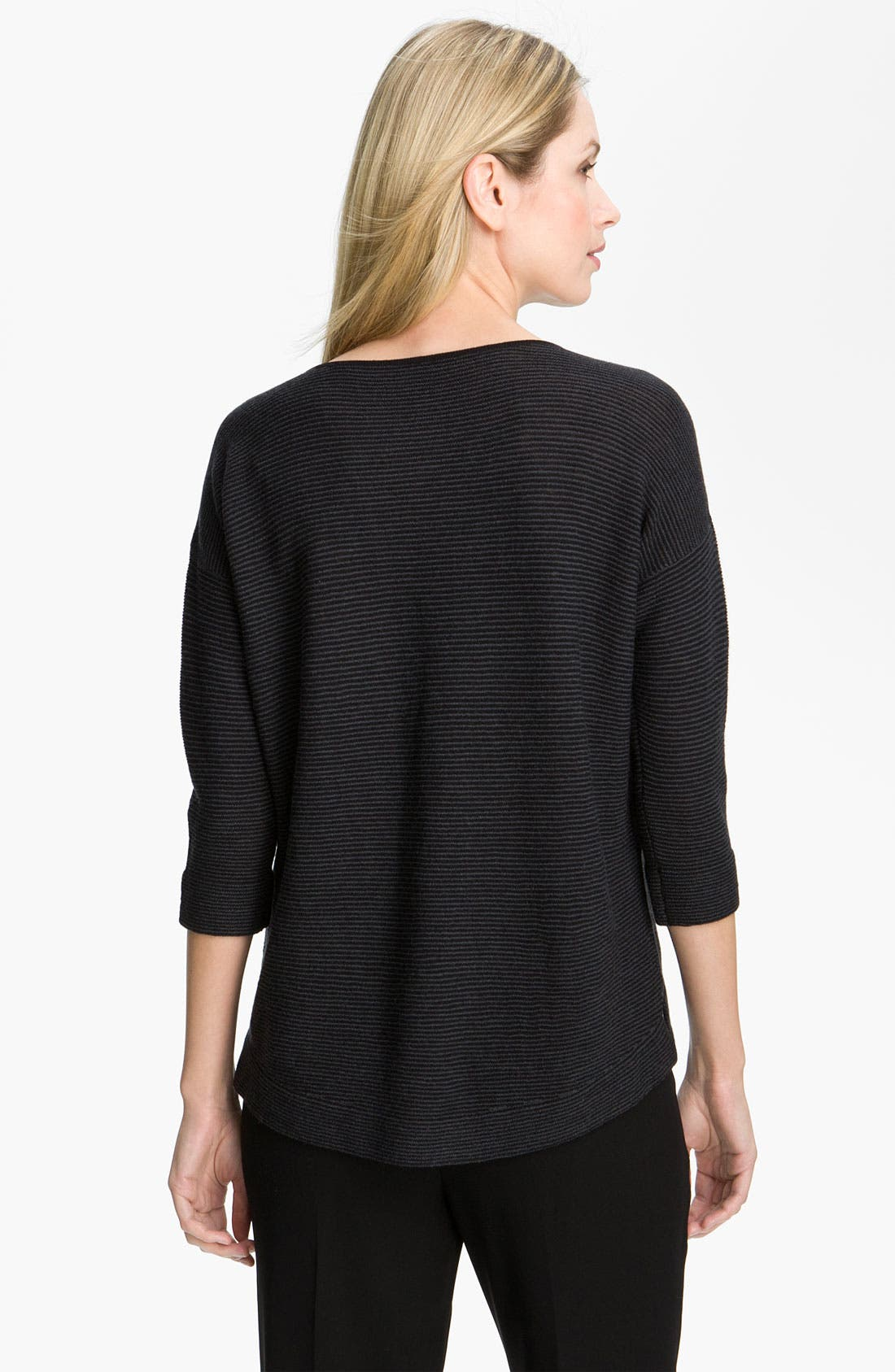 Alternate Image 2  - Eileen Fisher Stripe Wool Crepe Top