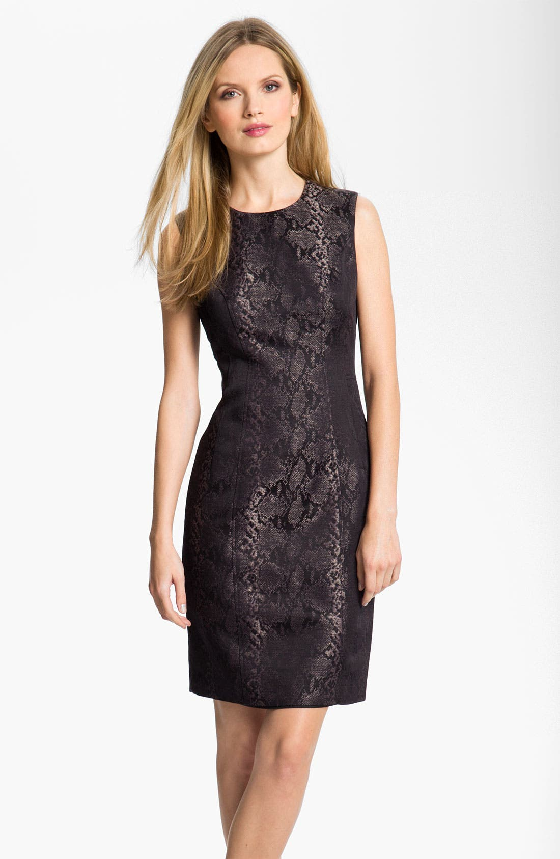 Alternate Image 1 Selected - Louben Python Jacquard Sheath Dress