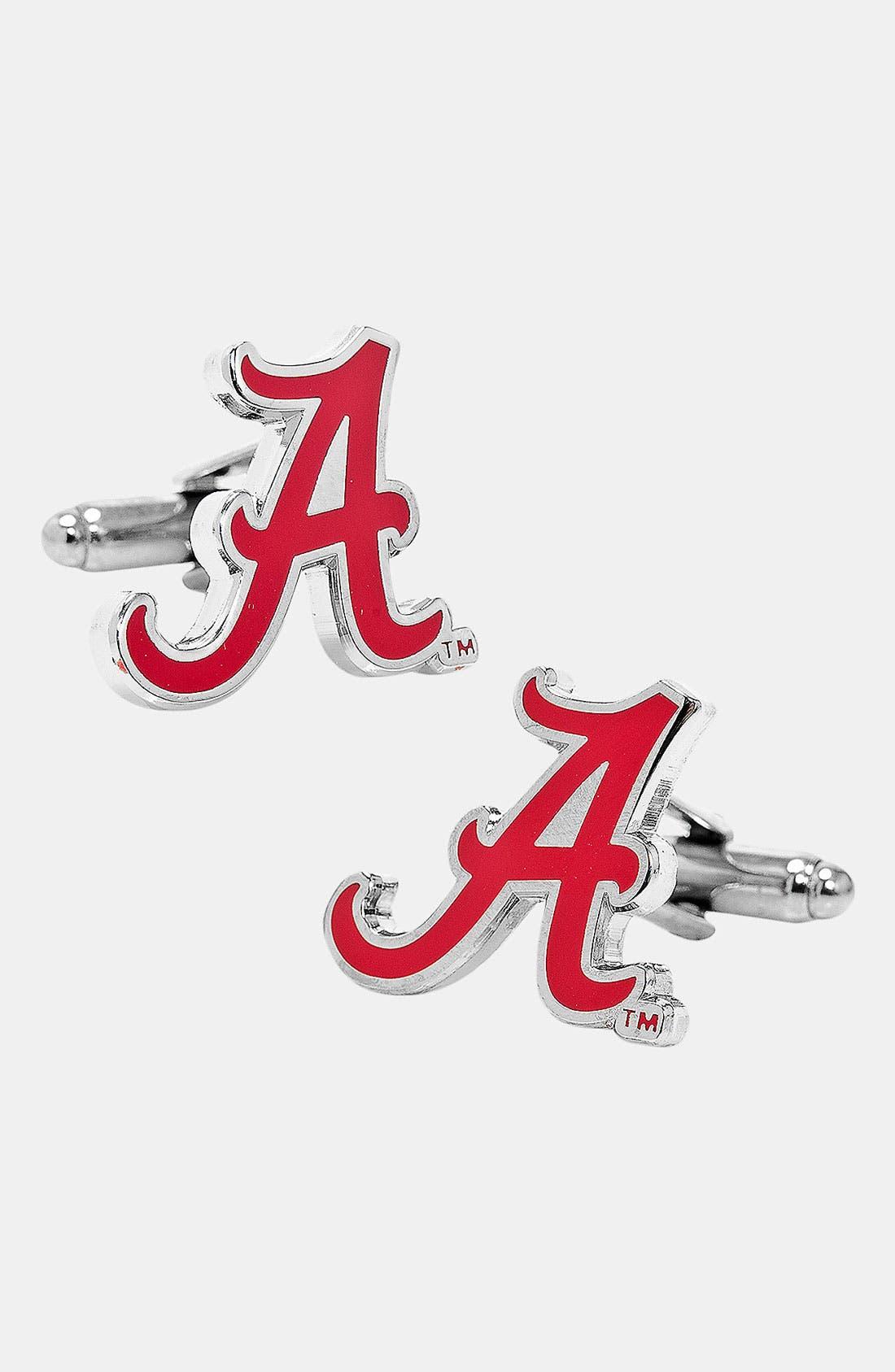 'University of Alabama Crimson Tide' Cuff Links,                         Main,                         color, Crimson/ White