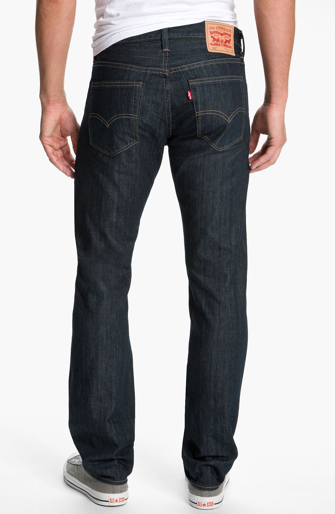 Alternate Image 1 Selected - Levi's® '513™' Slim Straight Leg Jeans (Rumpled Rigid)
