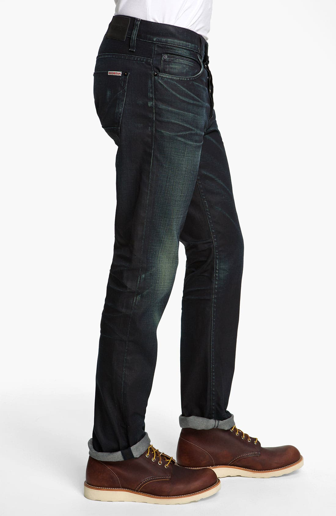 Alternate Image 3  - Hudson Jeans 'Dandy' Slouchy Straight Leg Jeans (Solitaire)