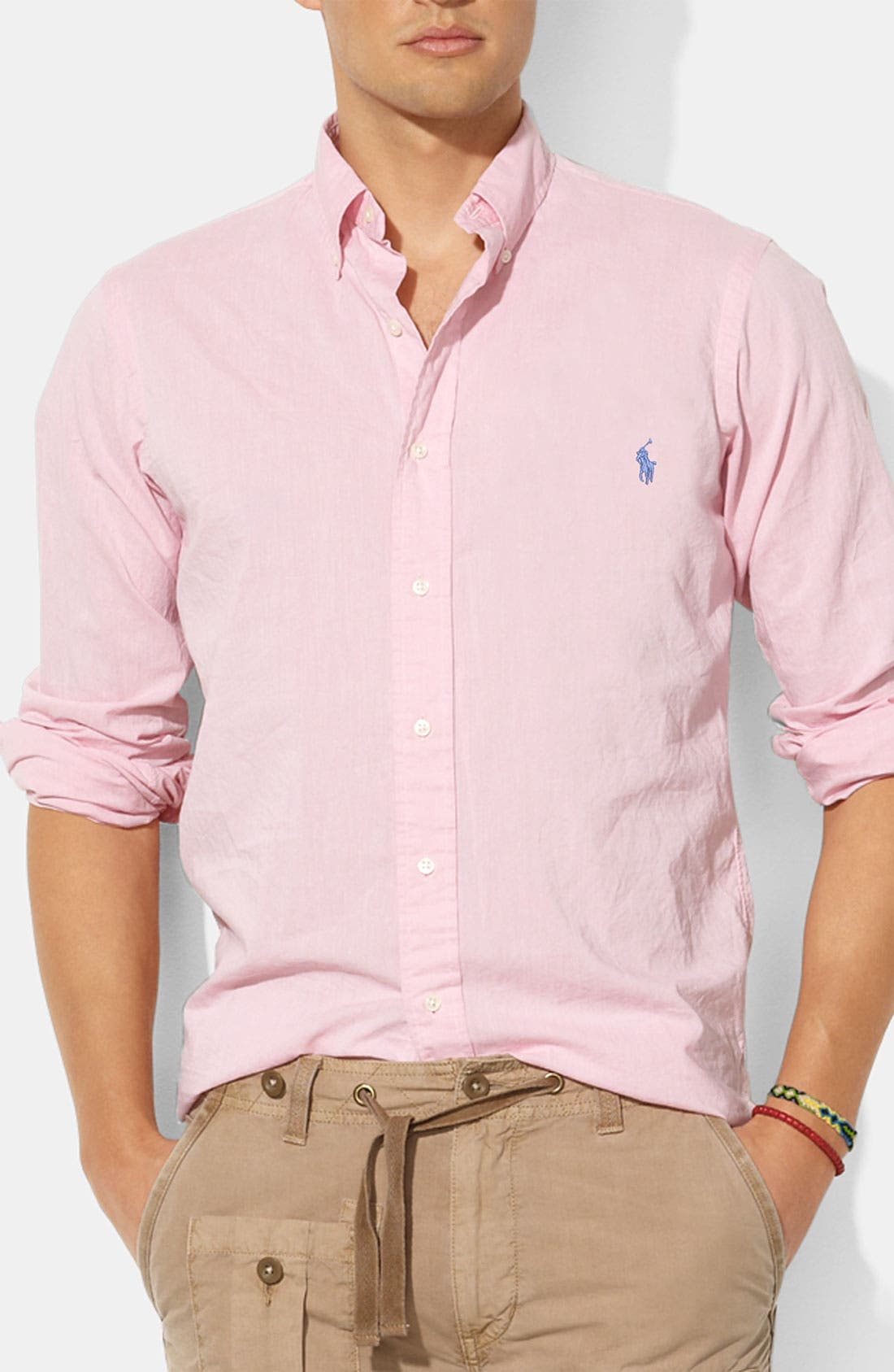 Alternate Image 1 Selected - Polo Ralph Lauren Custom Fit Chambray Sport Shirt