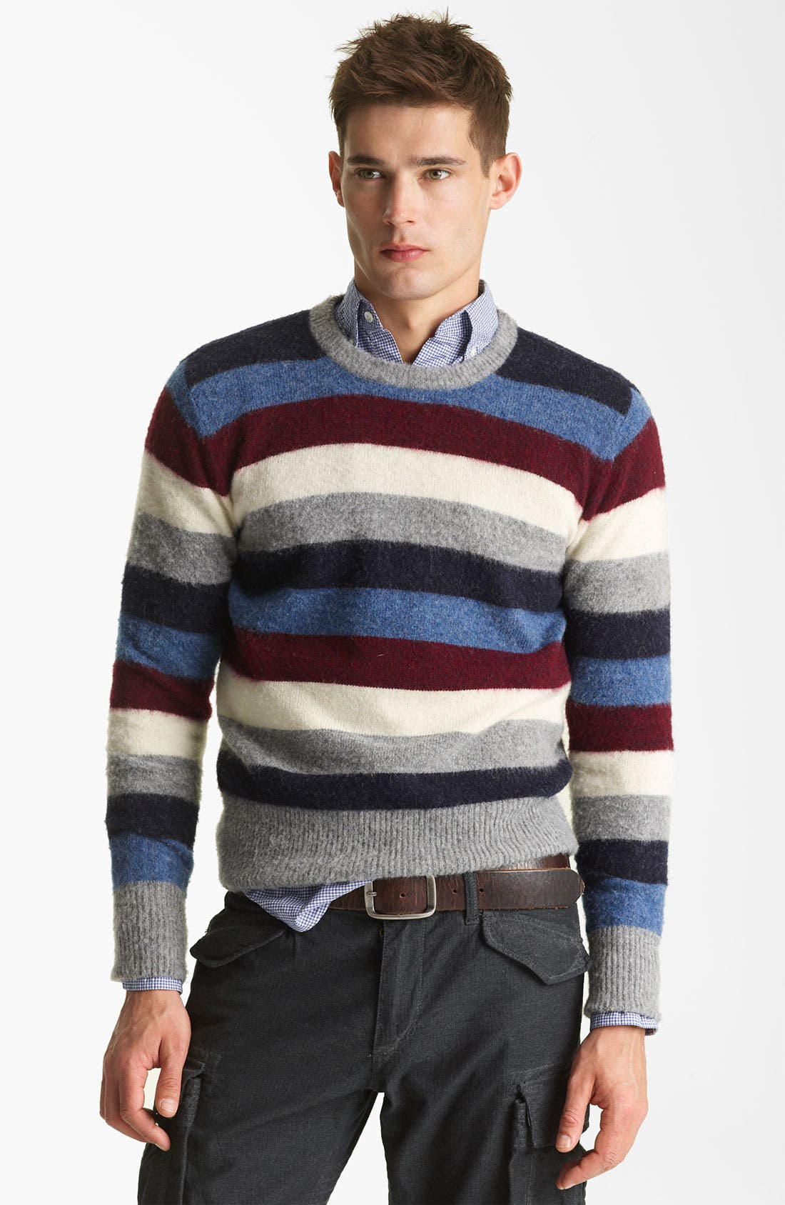 Alternate Image 1 Selected - Gant by Michael Bastian Stripe Wool Sweater
