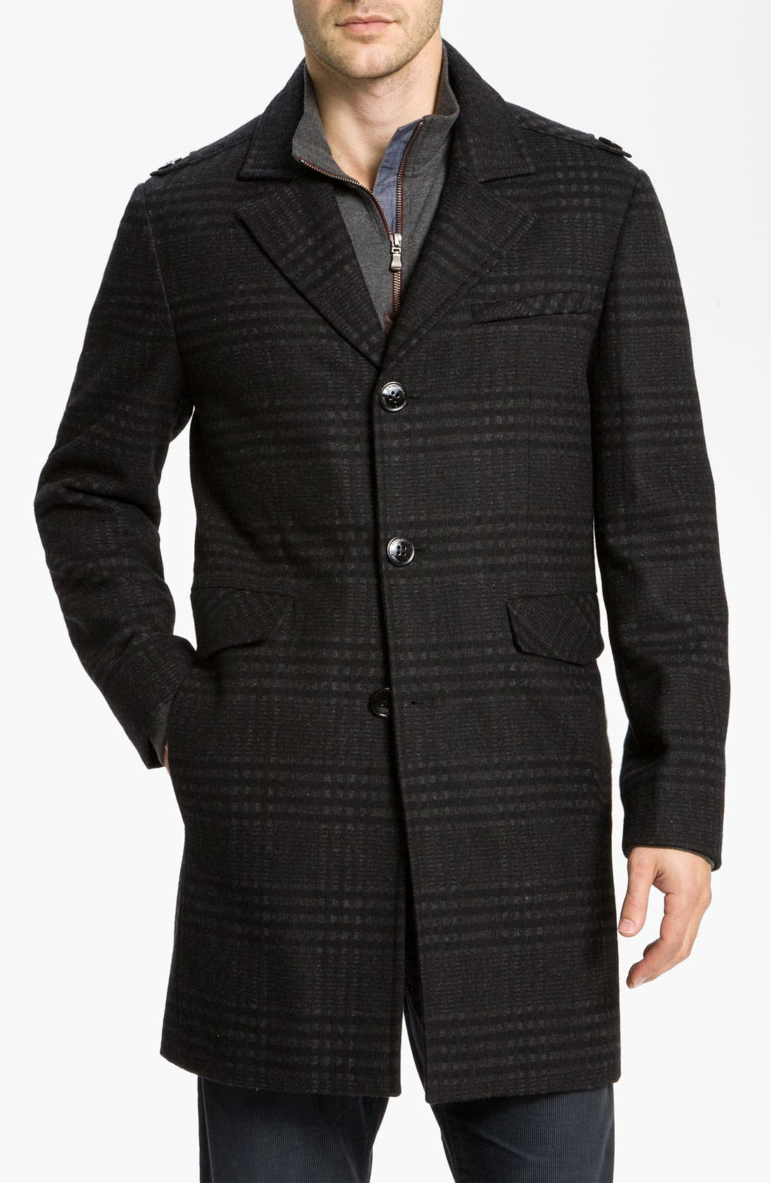 Alternate Image 1 Selected - Kenneth Cole New York Wool Blend Overcoat