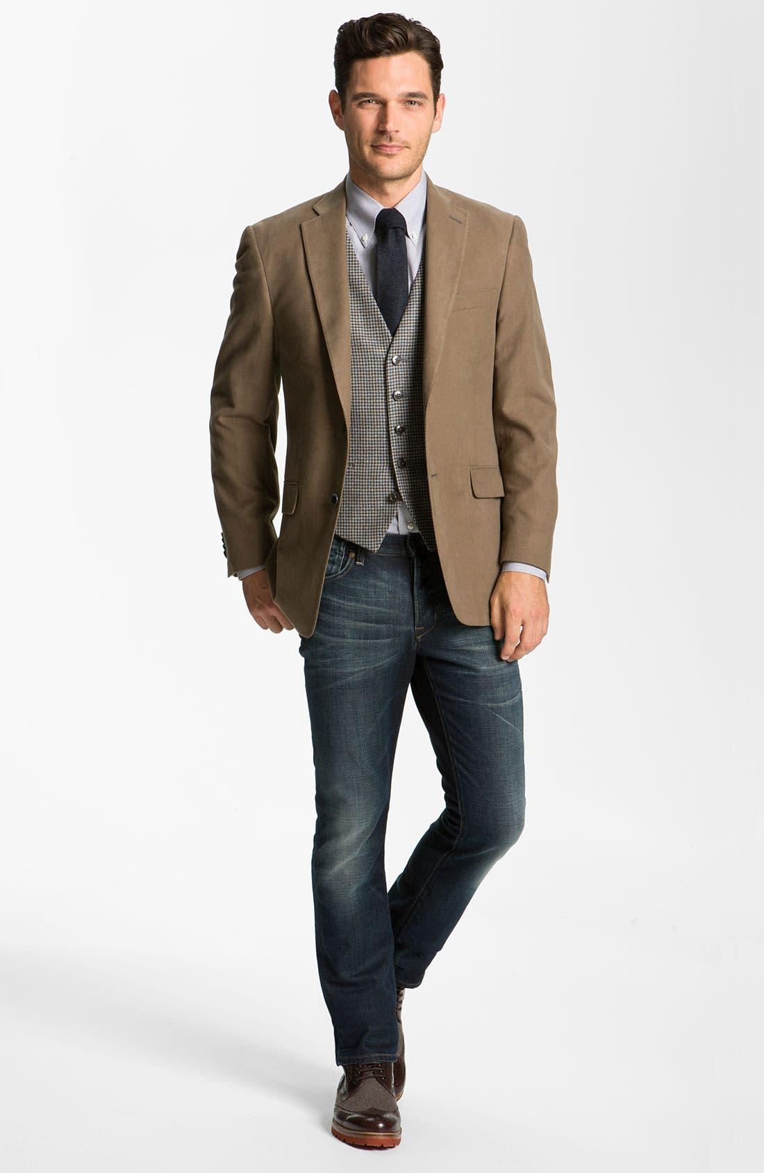 Alternate Image 8  - John Varvatos 'Bowery' Slim Straight Leg Jeans (Dark Indigo)
