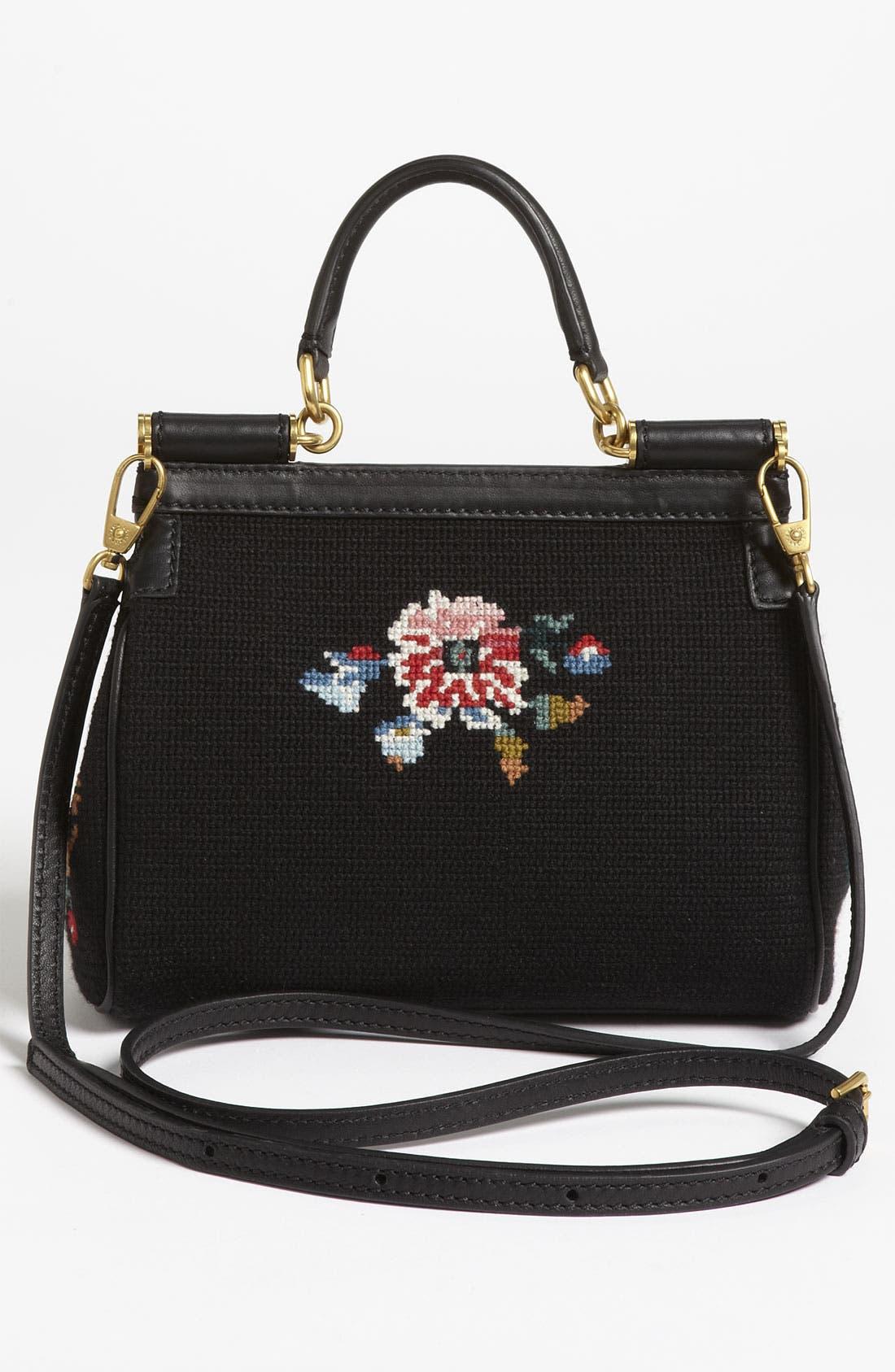 Alternate Image 4  - Dolce&Gabbana 'Miss Sicily - Mini' Needlepoint Handbag