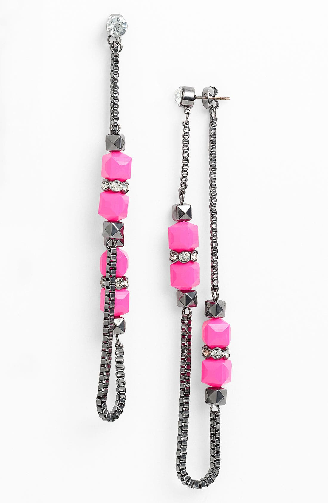 Alternate Image 1 Selected - Jewelry Fashions Bead & Crystal Shoulder Duster Earrings