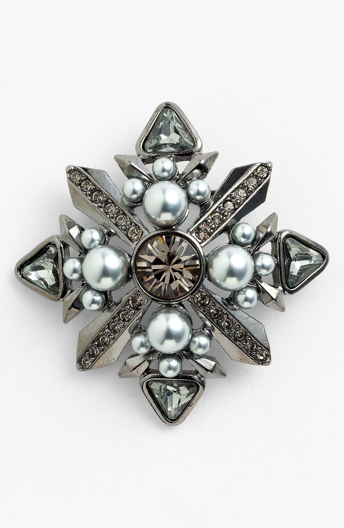 Main Image - Givenchy Glass Pearl & Crystal Brooch
