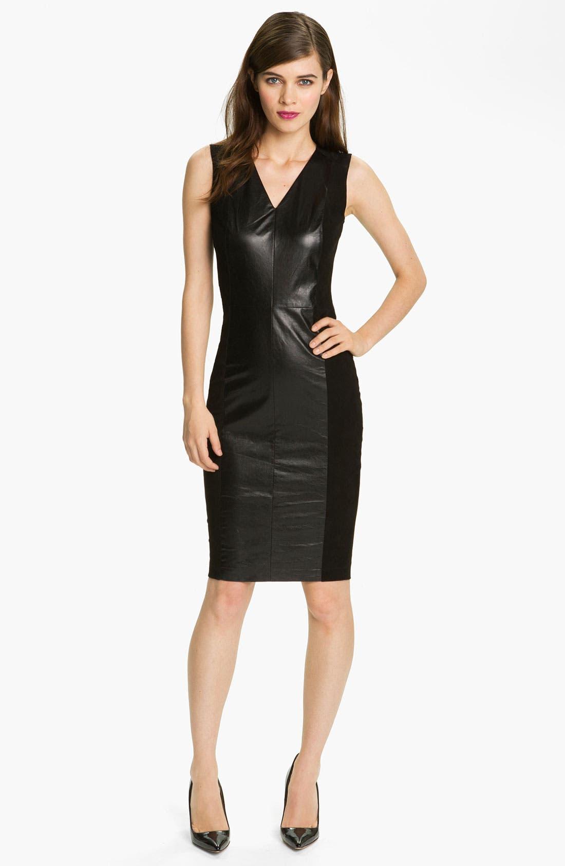Main Image - Robert Rodriguez Leather & Suede Sheath Dress