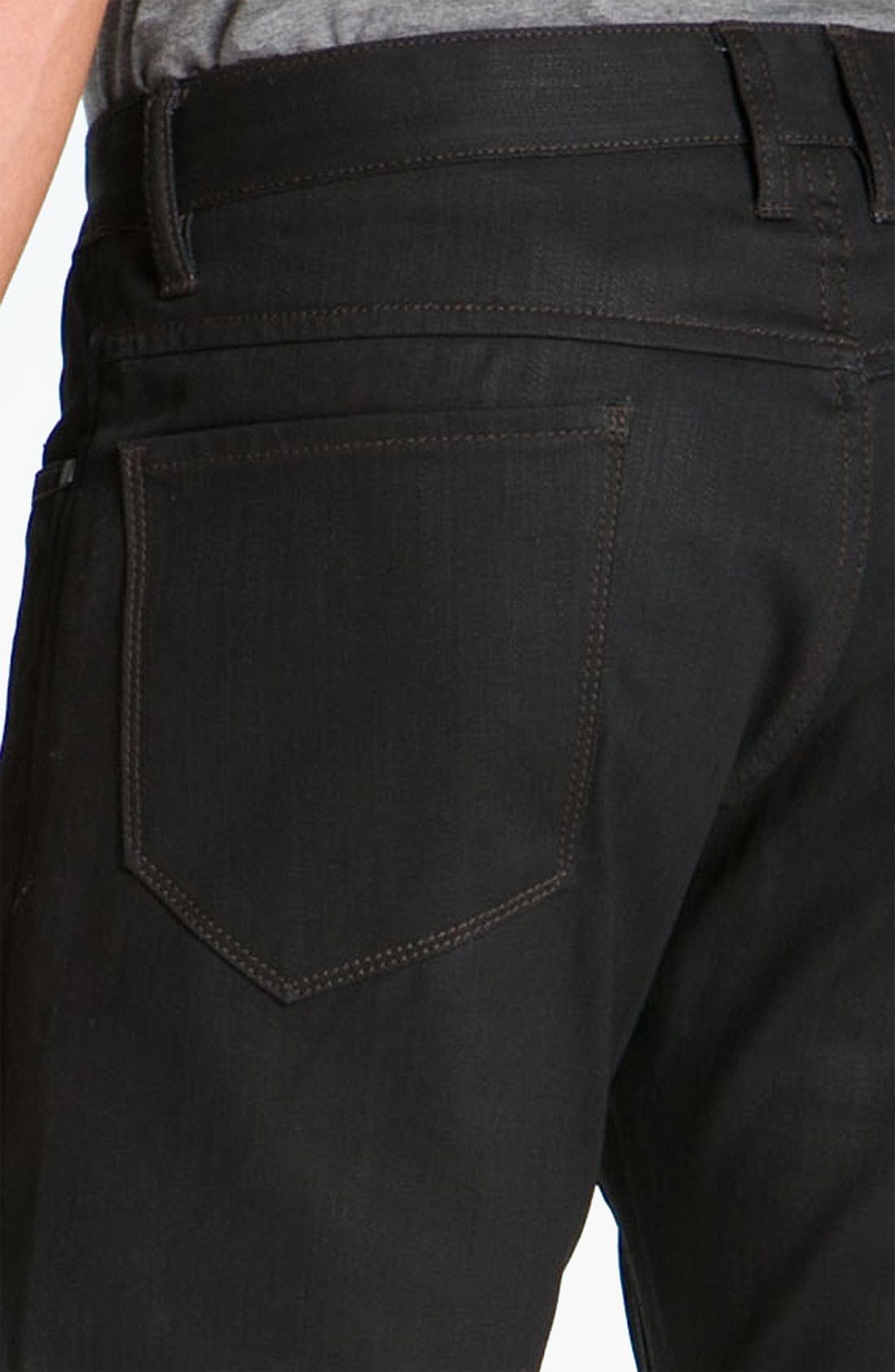 Alternate Image 4  - Comune 'Rudy' Coated Slim Straight Leg Jeans (Black Indigo)