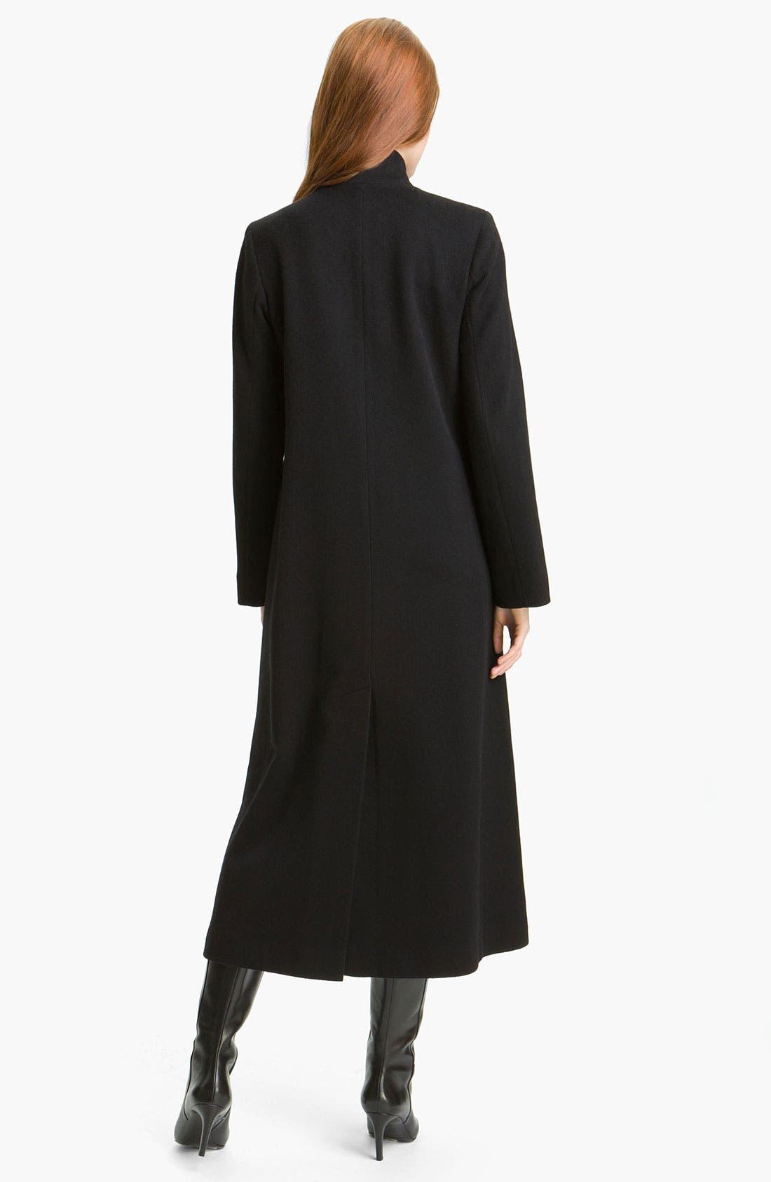Alternate Image 2  - Fleurette Stand Collar Long Wool Coat (Online Exclusive)
