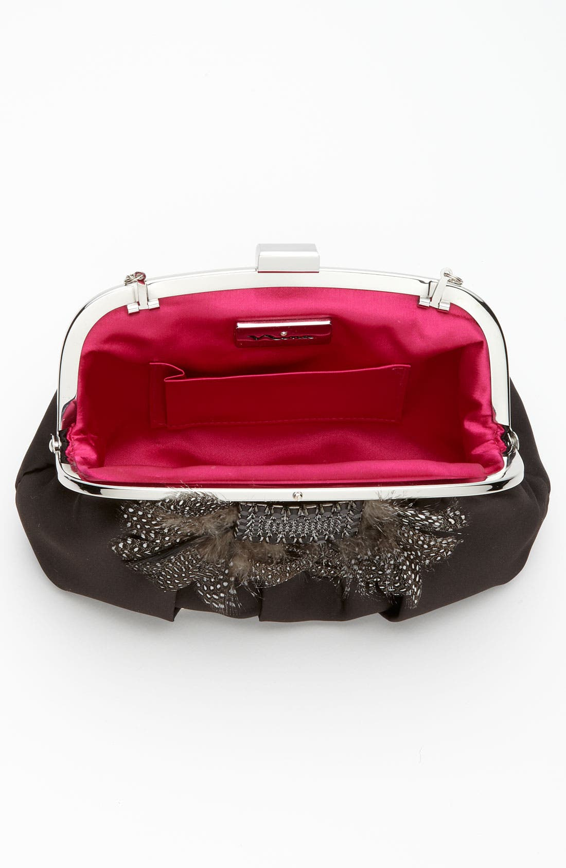Alternate Image 3  - Nina Satin Clutch