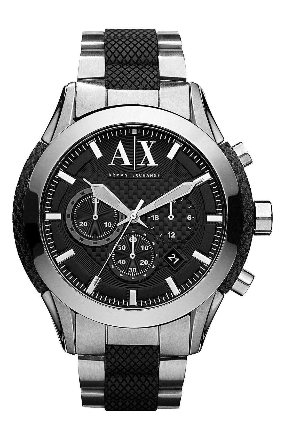 Main Image - AX Armani Exchange Chronograph Bracelet Watch, 47mm
