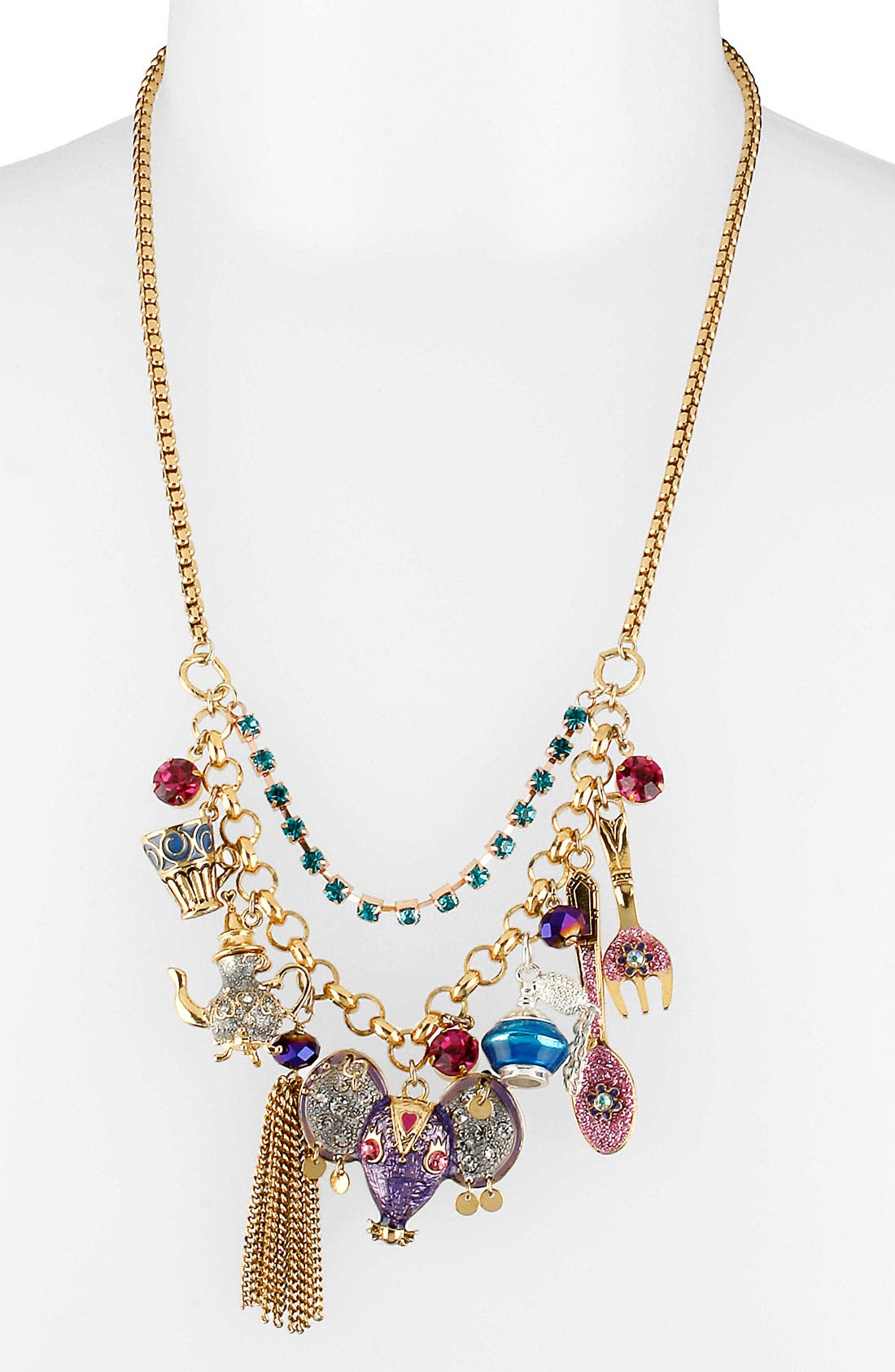 Alternate Image 1 Selected - Betsey Johnson 'Morocco Adventure' Frontal Necklace