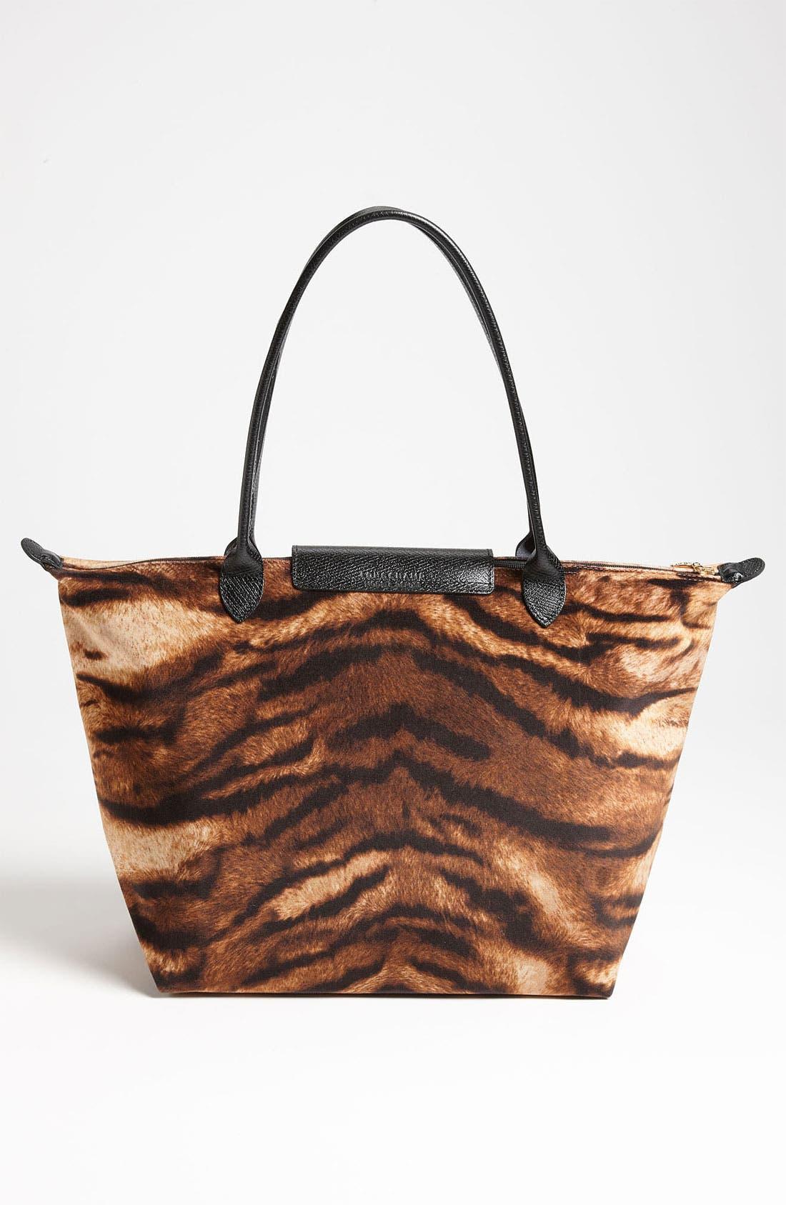 Alternate Image 4  - Longchamp 'Le Pliage Tigre' Large Shoulder Tote