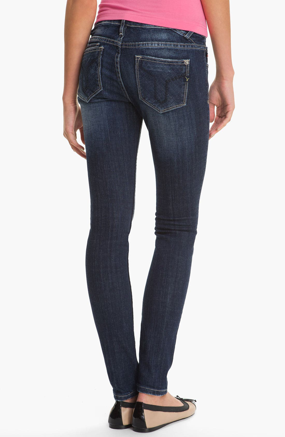 Alternate Image 2  - Vigoss 'Brooklyn' Skinny Stretch Jeans (Juniors)