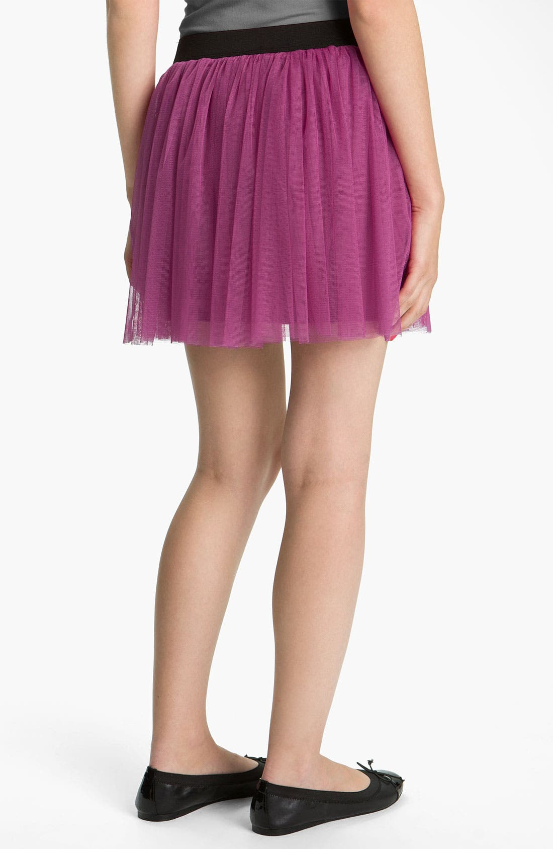Alternate Image 2  - Lily White Tulle Skirt (Juniors)