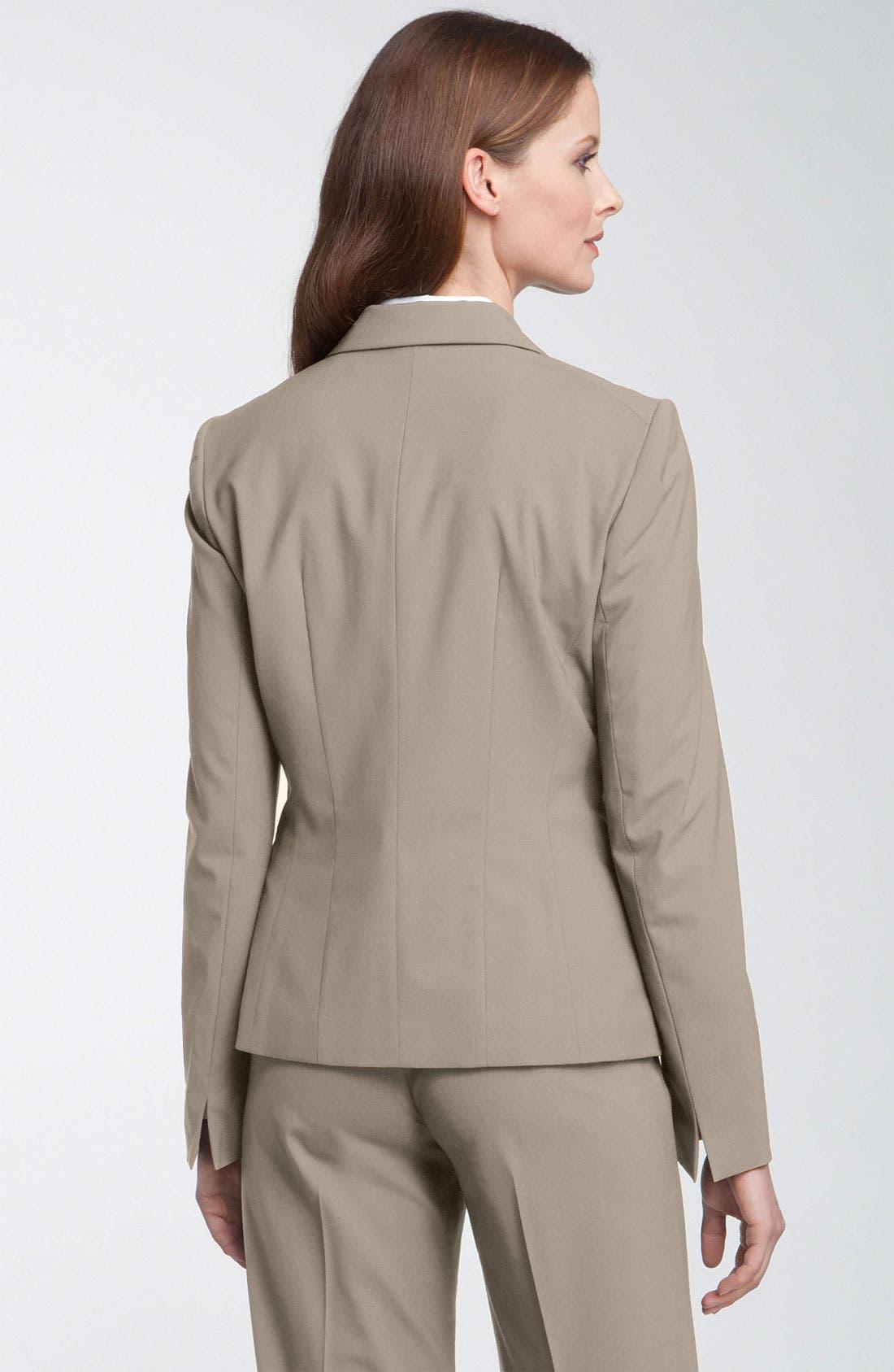 Alternate Image 2  - Lafayette 148 New York 'Hayes' Stretch Wool Jacket