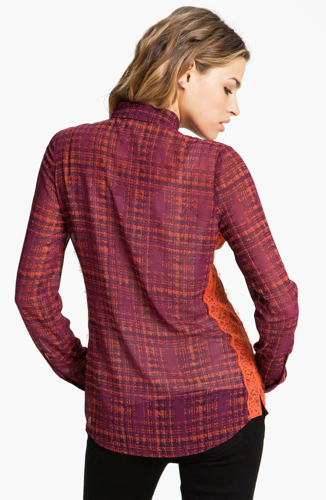 Alternate Image 2  - Hinge® Print Lace Panel  Shirt
