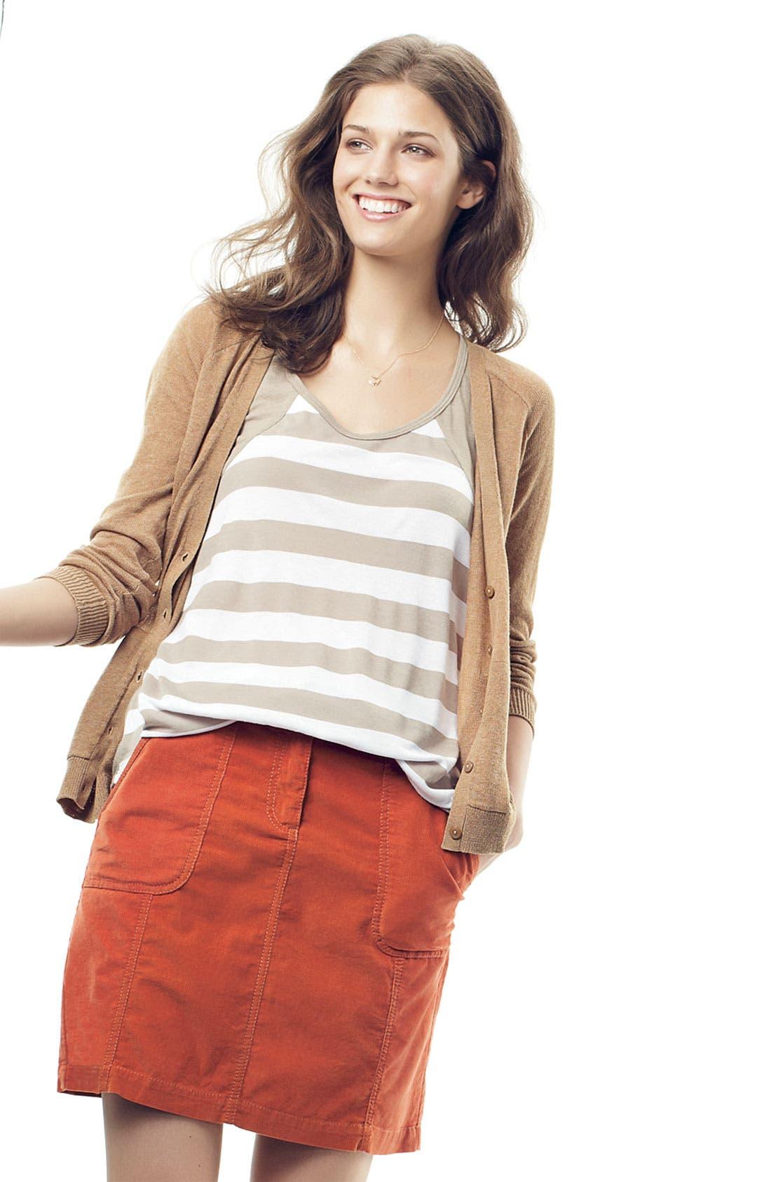 Alternate Image 4  - Caslon® Corduroy Skirt