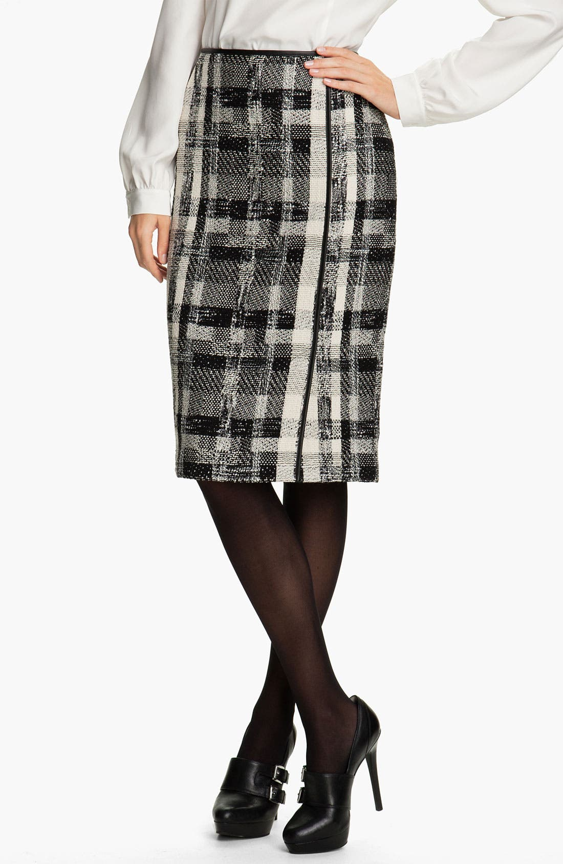 Main Image - Lafayette 148 New York Fragmented Tweed Skirt