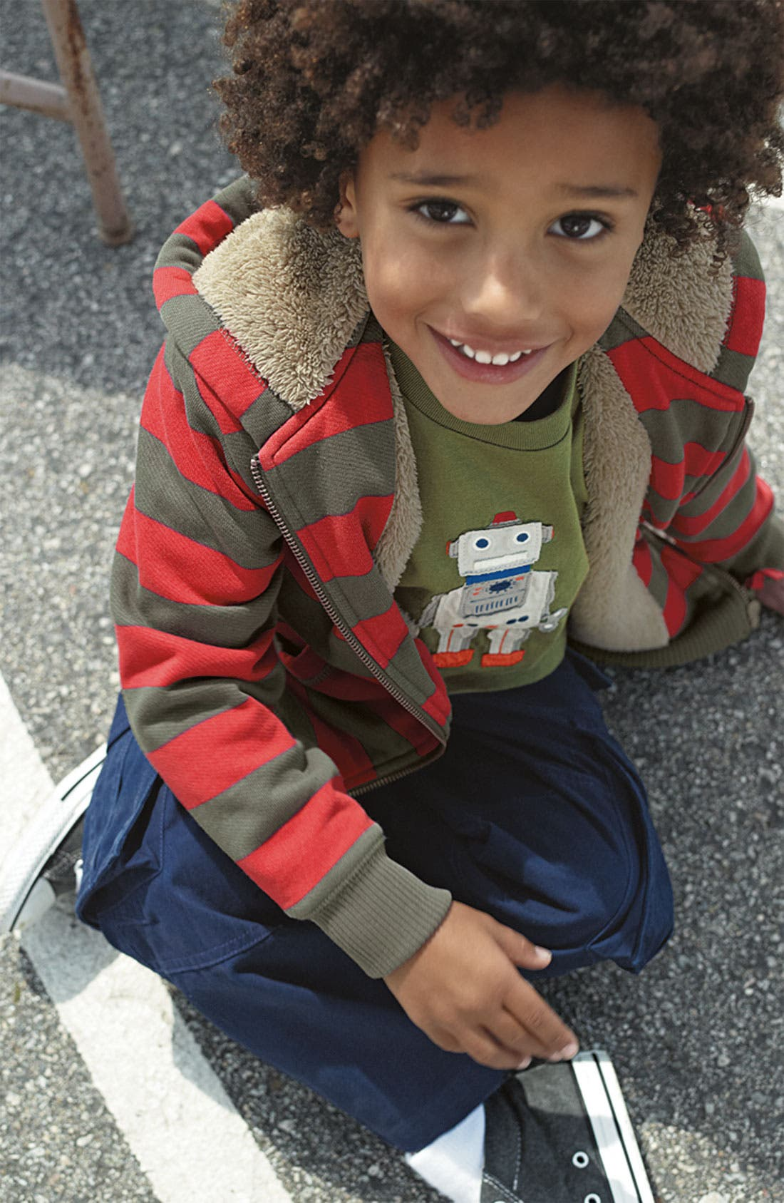 Alternate Image 3  - Mini Boden Ribbed Waist Cargo Pants (Toddler)