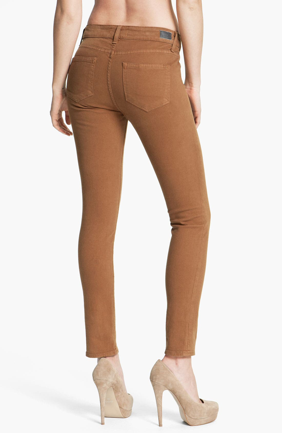 Alternate Image 2  - Paige Denim 'Skyline' Skinny Jeans (Caramel)