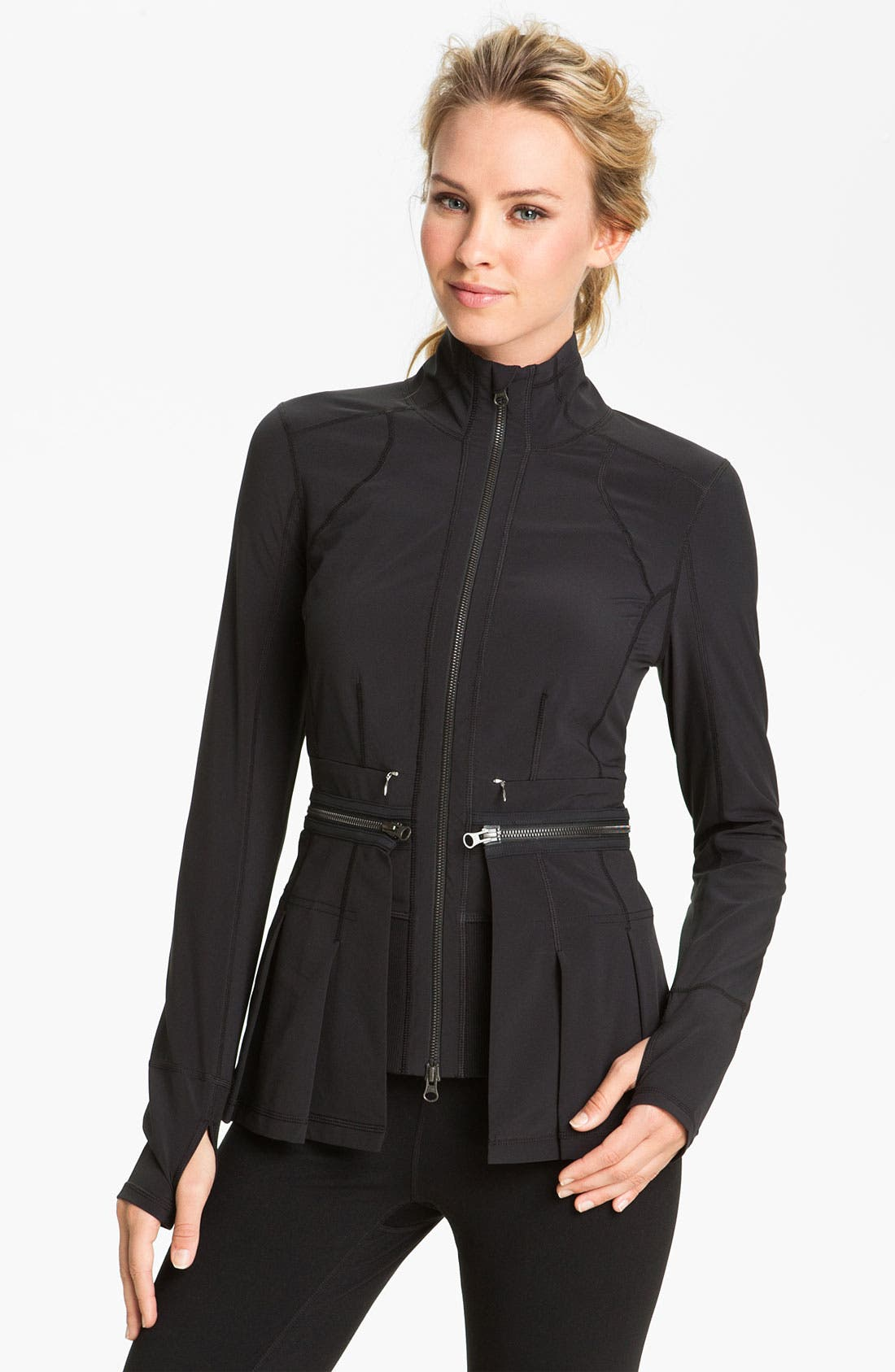 Alternate Image 1 Selected - Zella Zip Off Peplum Jacket