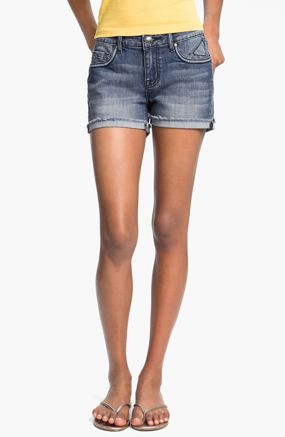 Alternate Image 2  - Vigoss 'Stanton' Cutoff Denim Shorts (Medium) (Juniors)