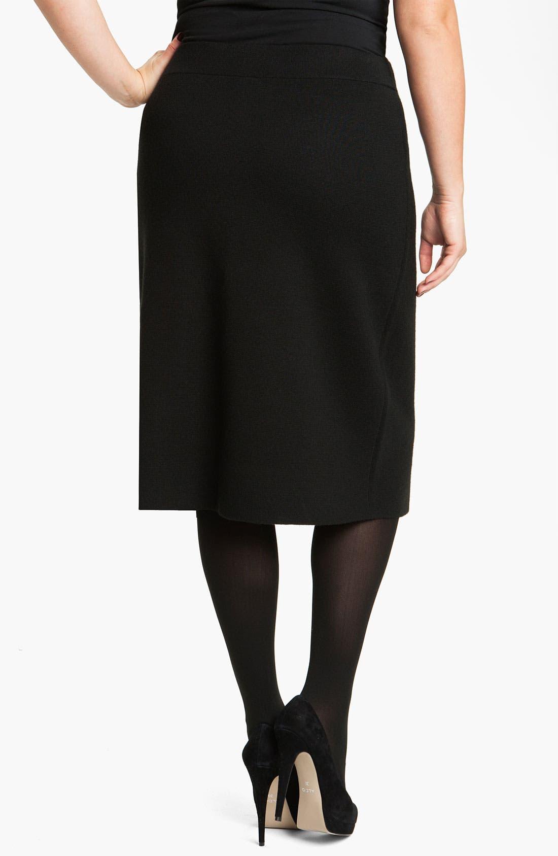 Sweater Skirt,                             Alternate thumbnail 2, color,                             Black