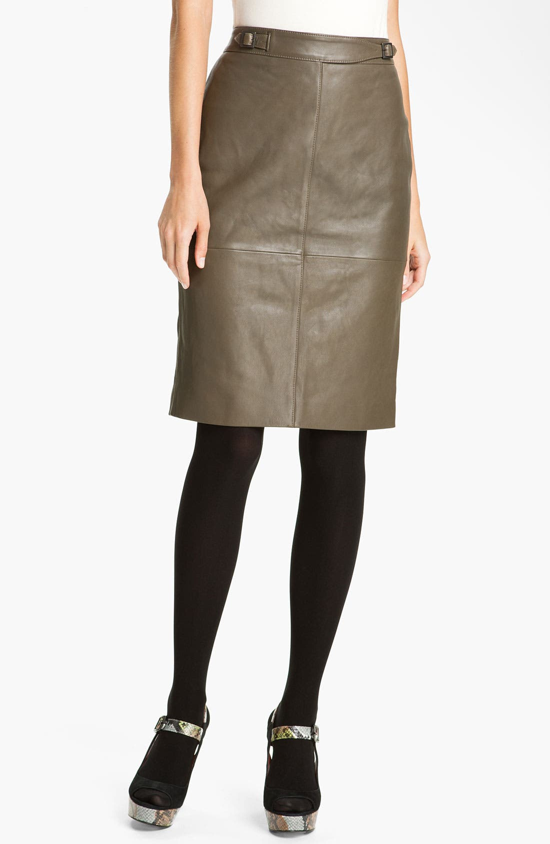 Alternate Image 1 Selected - Classiques Entier® 'Brenna' Leather Pencil Skirt