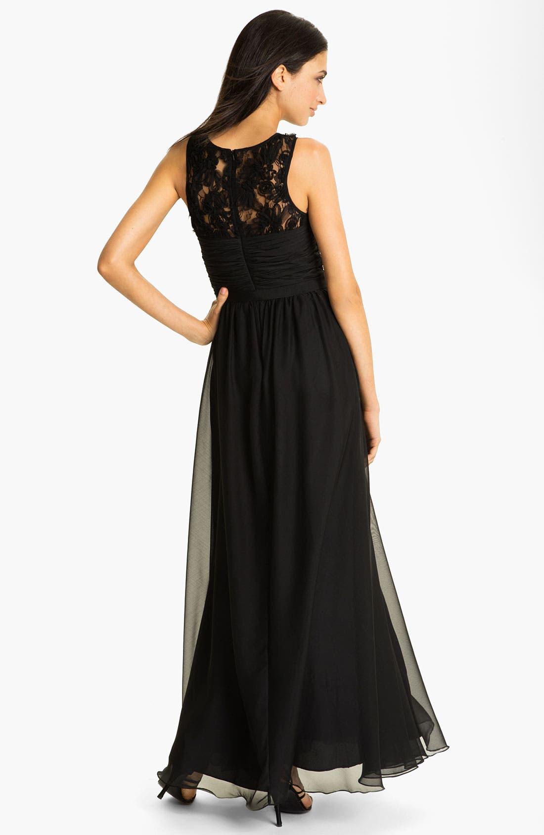 Alternate Image 2  - ML Monique Lhuillier Bridesmaids Chiffon Gown (Nordstrom Exclusive)