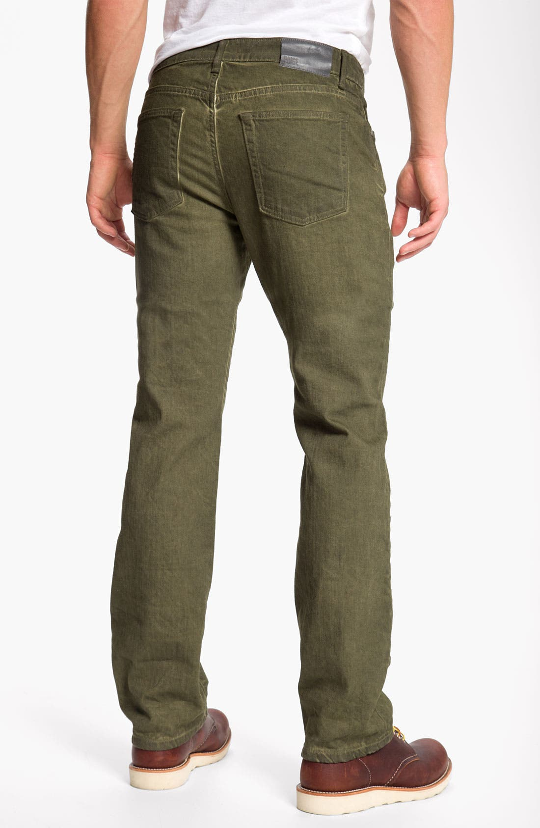 Main Image - PAIGE 'Normandie' Straight Leg Jeans (Bayou)