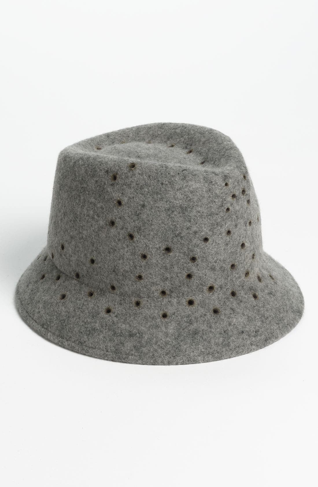 Main Image - Tarnish Perforated Wool Fedora
