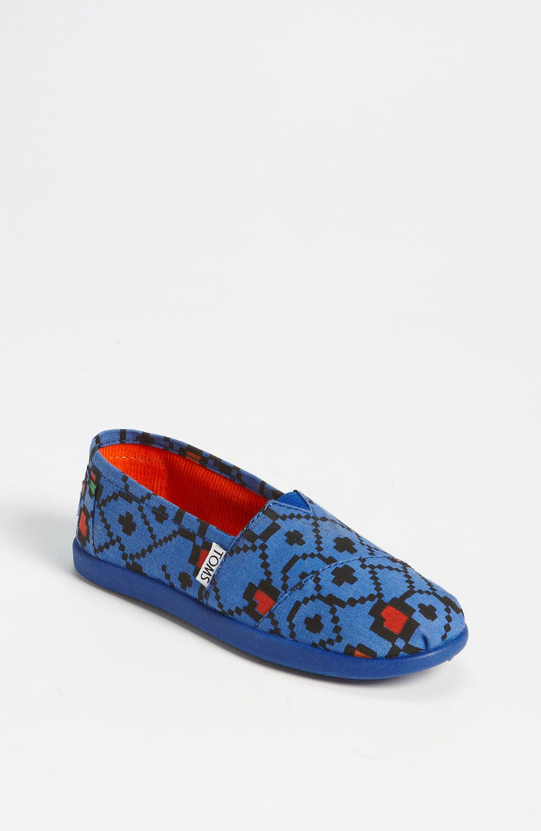 Main Image - TOMS 'Classic Youth - Geo Squares' Slip-On (Toddler, Little Kid & Big Kid)